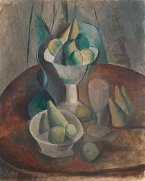Fruit in a Vase, 1909 von Picasso | Gemälde-Reproduktion