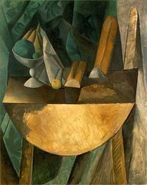Bowl of Fruit and Bread on a Table | Picasso | Painting Reproduction