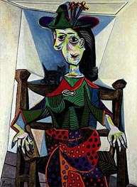 Dora Maar with Cat, 1941 von Picasso | Gemälde-Reproduktion