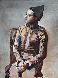 Seated Harlequin | Picasso | Painting Reproduction