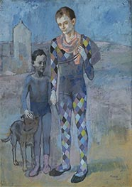 Two Acrobats with a Dog | Picasso | Painting Reproduction