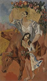 Composition: The Peasants, 1906 by Picasso   Painting Reproduction