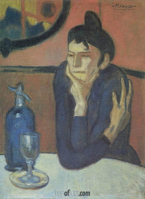 The Absinthe Drinker, 1901 | Picasso | Painting Reproduction
