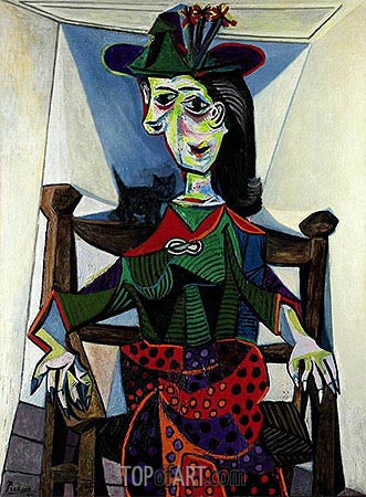 Dora Maar with Cat, 1941 | Picasso | Gemälde Reproduktion