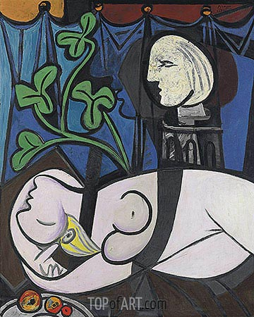 Nude, Green Leaves and Bust, 1932 | Picasso | Gemälde Reproduktion