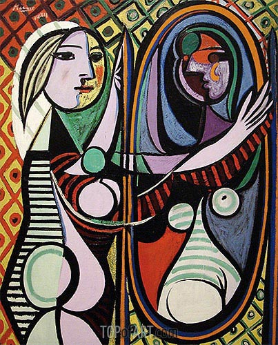 Girl before a Mirror, March 1932 | Picasso | Painting Reproduction