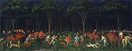 The Hunt in the Forest, a.1470s by Paolo Uccello | Painting Reproduction