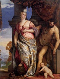 Allegory of Wisdom and Strength, c.1580 von Veronese | Gemälde-Reproduktion