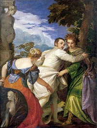 Allegory of Virtue and Vice (Choice of Hercules), c.1580 by Veronese | Painting Reproduction