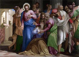 Christ addressing a Kneeling Woman (The Conversion of Mary Magdalene), a.1546 von Veronese | Gemälde-Reproduktion
