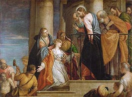 Raising of the Widow's Son of Nain, c.1565/70 von Veronese | Gemälde-Reproduktion