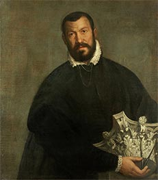 Portrait of the Architect Vincenzo Scamozzi, c.1585 by Veronese | Painting Reproduction