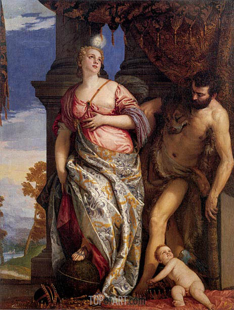 Allegory of Wisdom and Strength, c.1580   Veronese   Painting Reproduction