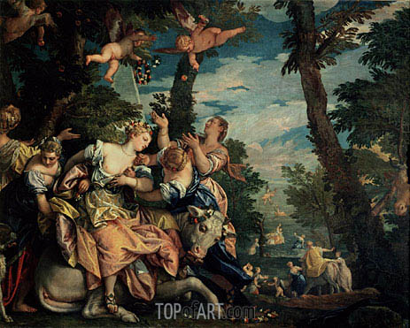 The Rape of Europa, c.1576/80 | Veronese | Painting Reproduction