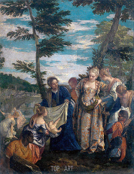 Moses Saved from the Waters, c.1580 | Veronese | Painting Reproduction