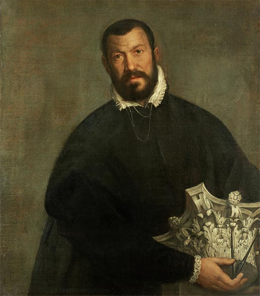 Portrait of the Architect Vincenzo Scamozzi, c.1585   Veronese   Painting Reproduction