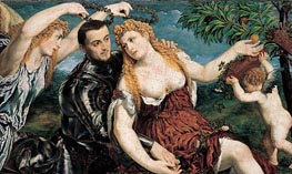 Allegory with Lovers, 1550 by Paris Bordone | Painting Reproduction