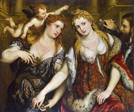 Venus, Flora, Mars and Cupid (Allegory), c.1550 by Paris Bordone | Painting Reproduction