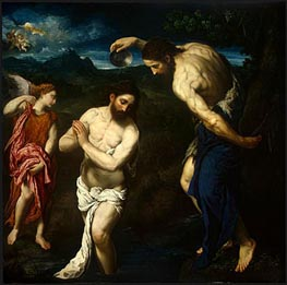 The Baptism of Christ, c.1535/40 by Paris Bordone | Painting Reproduction