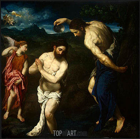 The Baptism of Christ, c.1535/40 | Paris Bordone | Painting Reproduction