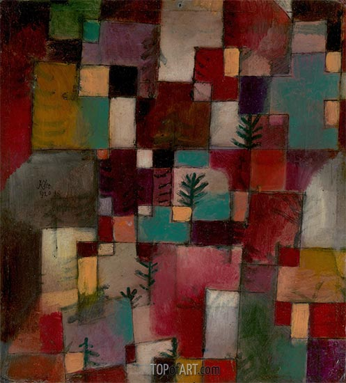 Redgreen and Violet-Yellow Rhythms, 1920 | Paul Klee | Painting Reproduction