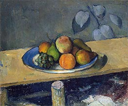 Apples, Peaches, Pears and Grapes, c.1879/80 von Cezanne | Gemälde-Reproduktion
