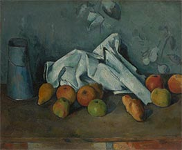Still Life with Milk Can and Apples, c.1879/80 von Cezanne | Gemälde-Reproduktion