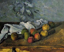 Apples and Napkin | Cezanne | Painting Reproduction