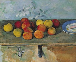 Apples and Biscuits, c.1879/82 von Cezanne | Gemälde-Reproduktion