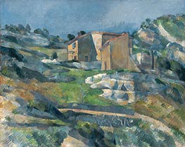Houses in Provence the Riaux Valley near L'Estaque, c.1880 von Cezanne | Gemälde-Reproduktion