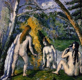 Three Bathers, c.1876/77 by Cezanne | Painting Reproduction