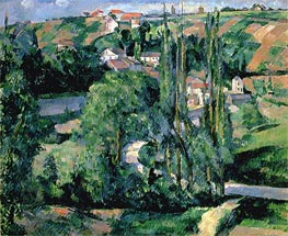 Jalais Hill, Pontoise, c.1879/80 by Cezanne | Painting Reproduction
