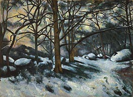 Melting Snow, Fontainebleau | Cezanne | Painting Reproduction