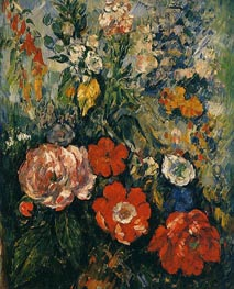 Bouquet of Flowers, c.1879/80 by Cezanne | Painting Reproduction