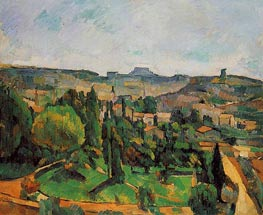 Ile de France Landscape | Cezanne | Painting Reproduction