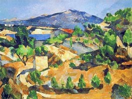 Mountains in Provence (L'Estaque), c.1879 by Cezanne | Painting Reproduction