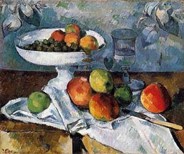 Still Life with Fruit Dish, c.1879/80 by Cezanne | Painting Reproduction