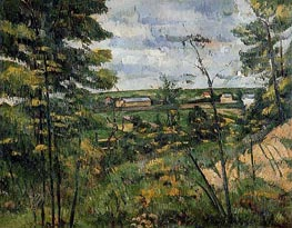The Oise Valley, c.1880 von Cezanne | Gemälde-Reproduktion