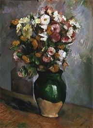 Flowers in an Olive Jar, c.1880 von Cezanne | Gemälde-Reproduktion