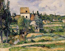 Mill on the Couleuvre at Pontoise | Cezanne | Painting Reproduction