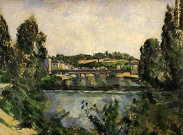 The Bridge and Waterfall at Pontoise | Cezanne | Painting Reproduction