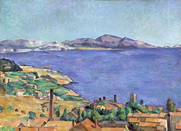 The Gulf of Marseilles Seen from L'Estaque | Cezanne | Painting Reproduction