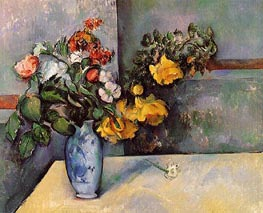 Still Life: Flowers in a Vase, c.1885/88 by Cezanne | Painting Reproduction