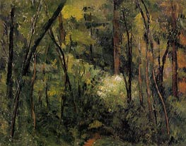In the Woods, c.1885 by Cezanne | Painting Reproduction