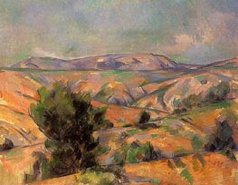 Mont Sainte-Victoire Seen from Gardanne, c.1885/86 by Cezanne | Painting Reproduction