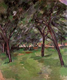 Orchard, c.1890 by Cezanne | Painting Reproduction