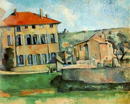 The Jas de Bouffan, c.1887 by Cezanne | Painting Reproduction
