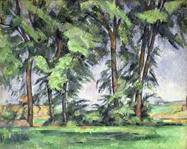 Tall Trees at the Jas de Bouffan | Cezanne | Gemälde Reproduktion