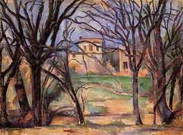 Trees and Houses, c.1885 by Cezanne | Painting Reproduction