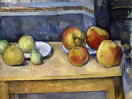 Still Life - Apples and Pears, c.1885/87 by Cezanne | Painting Reproduction